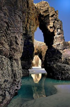 The stunning, exotic Playa de las Catedrales in Ribadeo, Spain