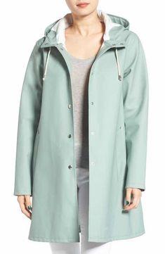 Main Image - Stutterheim Mosebacke Waterproof A-Line Hooded Raincoat Raincoat Jacket, Yellow Raincoat, Hooded Raincoat, Black Rain Jacket, Rain Jacket Women, Raincoats For Women, Jackets For Women, Clothes For Women, Hoodie