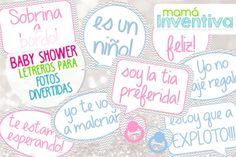 Signboards for funny photos in your Baby Shower, - How to Choose a Gift? For many of us, choosing gifts can beco. Baby Shower Props, Photobooth Baby Shower, Juegos Baby Shower Niño, Dibujos Baby Shower, Fotos Baby Shower, Regalo Baby Shower, Baby Shower Brunch, Baby Shower Balloons, Baby Shower Cards