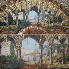 Eventail de style gothique, vers 1825 • Weber antiquités, objets de vitrine, éventails, cannes, mannequins