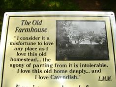 """At L.M. Montgomery's grandparents' homestead, Cavendish, Prince Edward Island. Blog post on """"L.M. Montgomery's Literary Pilgrimage to Concord, Mass."""": http://sarahemsley.com/2013/11/30/l-m-montgomerys-literary-pilgrimage-to-concord-mass/"""