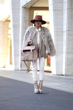 Mercedes Benz Fashion Week Day One (by Olivia Lopez) http://lookbook.nu/look/3051847-Zara-Coat-Club-Monaco-Vest-Max-Azria-Heels-Bcbg