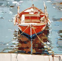 """""""Orange fishing boat"""" - Josef Kote"""