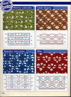 Crochet Fabric Stitch Patterns Green & Red Openwork - REGINA CROCHE AND RELATED REVENUE: dots ...