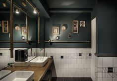 Strange Horse: Cheval Bar and Restaurant in Thessaloniki by of Architecture Restaurant Bad, Toilet Restaurant, Restaurant Bathroom, Restaurant Design, Industrial Toilets, Industrial Bathroom, Bathroom Interior, Toilette Design, Tidy Room