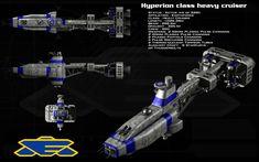 Hyperion class heavy cruiser by unusualsuspex.deviantart.com on @deviantART
