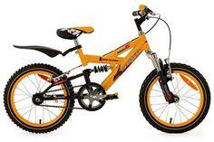 KS Cycling Kinder Fahrrad Mountainbike Krazy RH 28 cm, Gelb, 16, 803B
