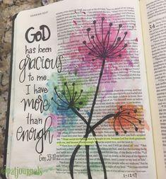 Quotes Inspirational Bible Art Journaling 59 Ideas For 2019 Bible Journaling For Beginners, Bible Study Journal, Art Journaling, Scripture Journal, Bible Drawing, Bible Doodling, Scripture Art, Bible Art, Genesis Bible