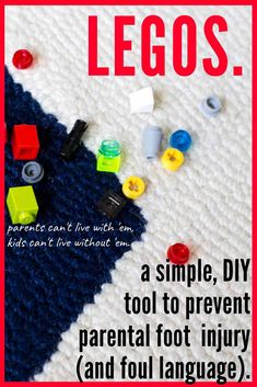 GENIUS!!! Check out this DIY tool for picking up Legos!! No more foot pain from stepping on those little Lego pieces!! The kids may actually want to help pick up Legos now!! #Lego #LegoStorage #LegoOrganizationIdeas #LegoCleanup #LegoHacks #LegoIdeas #CleaningHacks #CleaningToys #CleaningTipsAndTricks #LegoOrganization #LegoCleanUpTool #LegoPickup