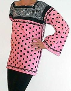 Easy 5-Bandana Blouse - make it in under 1 hour for less than $10