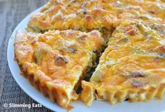 Slimming World bacon, leek and sweet potato quiche.