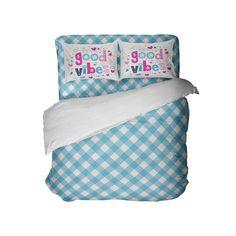 Good Vibes Preppy Blue Gingham Comforter Set from Kids Bedding Company Toddler Comforter Sets, Queen Size Comforter Sets, King Size Comforters, Twin Comforter Sets, Kids Sheet Sets, Kids Sheets, Preppy Bedding, Dorm Room Comforters, Bed Company