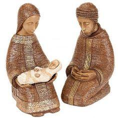 Natividad Virgen campesina grande - marrón   venta online en HOLYART