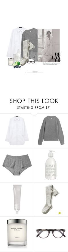 """Enveloppée Dans La Douceur Du Temps / Wrapped In The Softness Of Time"" by halfmoonrun ❤ liked on Polyvore featuring Alexander Wang, Kiki de Montparnasse, Millà, La Compagnie de Provence, Banana Republic, Ralph Lauren Collection, Cutler and Gross and LovelyLoungewear"