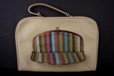 COACH Bonnie Cashin Rare Vintage Attache Briefcase Hand  Bag Mexican Stripe  #BonnieCashin #AttacheCase