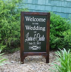 A personal favorite from my Etsy shop https://www.etsy.com/listing/516667066/wedding-signs-wood-framed-chalkboard