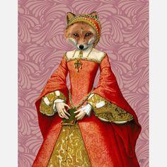 The Fox Queen Print LoopyLolly