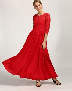 033f80c72d8f7 Buy Red Ellodia Lace Maxi Dress Online at StalkBuyLove | IN1704MTODRERED-126