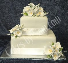 Calla lily cake squared