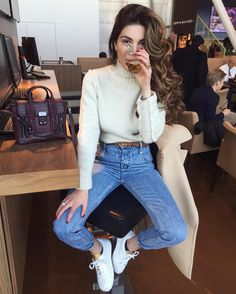 """62.4k Likes, 473 Comments - Negin Mirsalehi (@negin_mirsalehi) on Instagram: """"Missed my second home. Off we go. - Tab for outfit details."""""""