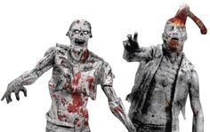 McFarlane Toys The Walking Dead Action Figures - Comic Book Series 1: Black & White Zombies 2-Pack