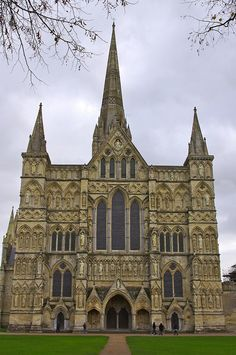 Salisbury Cathedral, is in Salisbury, England, UK. The main body was completed in only 38 years, from 1220 to 1258. It has the tallest church spire in the United Kingdom (123m/404 ft), and contains the world's oldest working clock (from AD 1386) plus the best surviving of the four original copies of the Magna Carta (all four original copies are in England).In 2008, the cathedral celebrated the 750th anniversary of its consecration in 1258.
