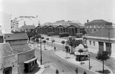 Lisboa, Avenida Duque de Ávila com a estação da Carris, Arco do Cego, 1940.  Eduardo Portugal, in Arquivo Fotográfico da C.M.L.