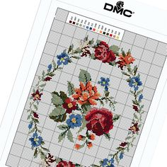 With a vivid garland of flowers, this free cross stitch pattern is perfect for customizing a wardrobe accessory like a tote bag or for simply hanging proudly on your wall.