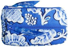 Vera Bradley Blue Lagoon Coin and Key case. NWT Retired  ID case PDA tech. perfect keep-in-palm-of-your-hand case