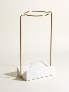 Gold & Marble Umbrella Stand   Oliver Bonas Coat Hooks Hallway, Entryway Hooks, Entryway Decor, Marble Foyer, Gold Marble, White Marble, Home Hair Salons, Best Umbrella, Diy Home Decor Easy