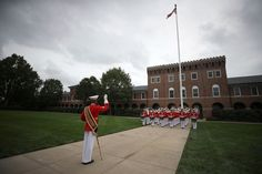A ceremony to commemorate the anniversary of the 1983 bombing of the Marine barracks in Beirut, Lebanon, in Washington, DC.  (Mark Wilson / Getty) http://pow.photos/2017/lebanon-pow-19-25-october/