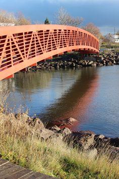 walking bridge Bridge, New Homes, Walking, Bridges, Walks, Hiking, Attic, Bro