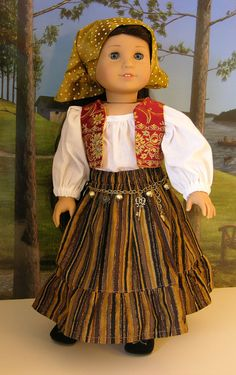 Fortune Teller costume for American Girl or 18 inch doll with shoes