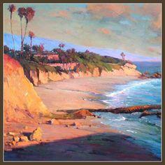 Painting of Beach Sunset