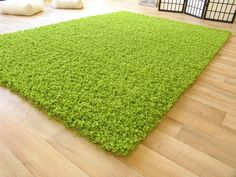 Hoogpolig shaggy tapijt Lime Groen - Shaggy tapijten 200 x 290 cm - Alles voor uw huis inrichting