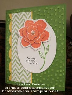 Sneak Peek using new products; Simple Stems and Decorative Dots from Stampin' Up!
