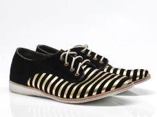 Rollie schoenen Derbys sneakers Zwart/Goud http://www.topshoe.nl/dames/rollie/veterschoenen/38239/46311/