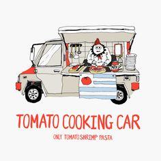Real Tomato Cooking Show by Seulki Kim, via Behance