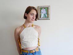 Reversible Side Tie Crop Top by Annie Oakes Designs