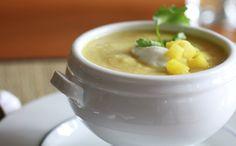 Cauliflower Apple Soup with Cilantro Yogurt | WeeklyGreens.com