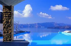 This place is located on a cliff on Santorini Island. It's one of the most romantic places on earth in my opinion. Imagine waking up with your special someone.............