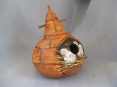 Baby Birds Hatching Art Bird House Gourd by HouseOfGourds on Etsy https://www.etsy.com/listing/172117778/baby-birds-hatching-art-bird-house-gourd
