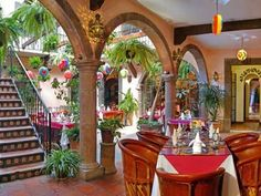 mexican courtyard
