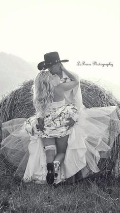 Country wedding photos, the kiss Country Wedding Photos, Country Wedding Dresses, Wedding Pictures, White Camo Wedding Dress, Camo Wedding Dresses, Bridal Dresses, Cute Wedding Ideas, Perfect Wedding, Dream Wedding