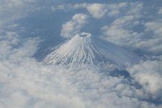 Mount Fuji aerial.