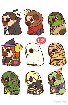 Puglie Halloween by Puglie  Pug