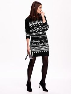Women's Fair Isle Sweater Dress Product Image