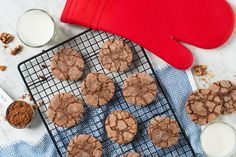 Add these rich, chocolate cookies to your holiday baking! Made with dutch cocoa and walnuts, they're a cookies recipe that your whole family will love.