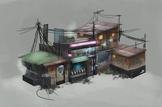 Hey everyone, Im currently in my at uni and have started my final major project which runs over 4 months. Apocalypse House, Apocalypse Art, Cyberpunk City, Arte Cyberpunk, Building Concept, Building Art, Fallout 4 Settlement Ideas, Post Apocalyptic City, Cartoon House