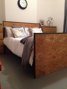 Handmade osb bed frame